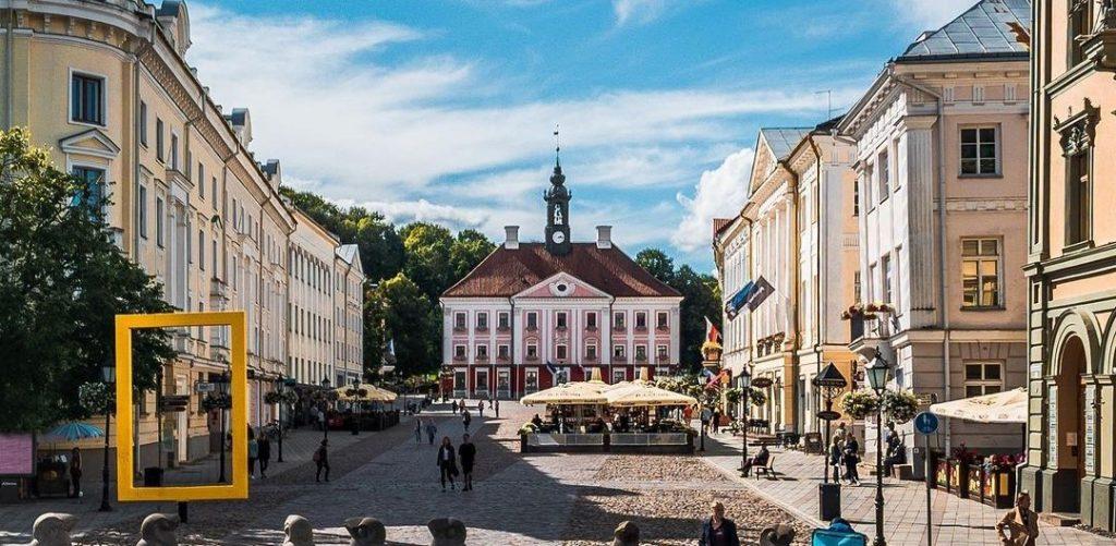 Pilt Tartu vanalinnast.